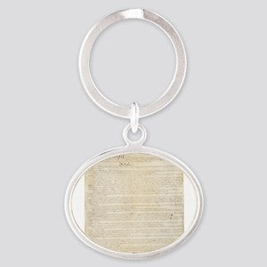 The Us Constitution Oval Keychain