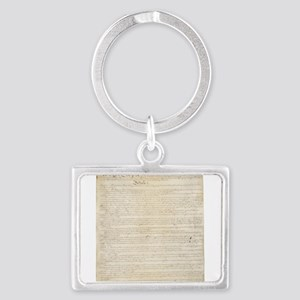 The Us Constitution Landscape Keychain