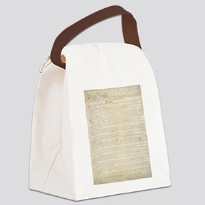 The Us Constitution Canvas Lunch Bag