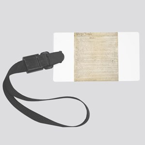 The Us Constitution Large Luggage Tag