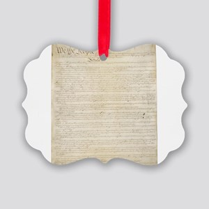 The Us Constitution Picture Ornament