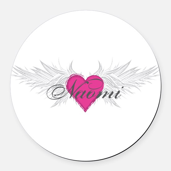 Naomi-angel-wings.png Round Car Magnet