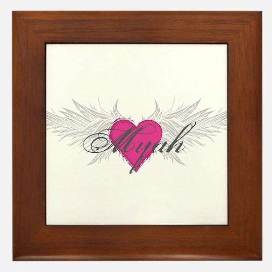 Myah-angel-wings.png Framed Tile
