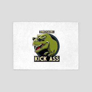 Dinosaurs Kick Ass 5'x7'Area Rug