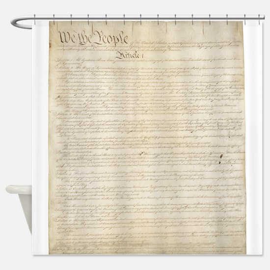 The Us Constitution Shower Curtain