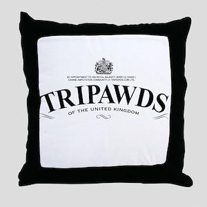 Tripawds Tea Brand Throw Pillow