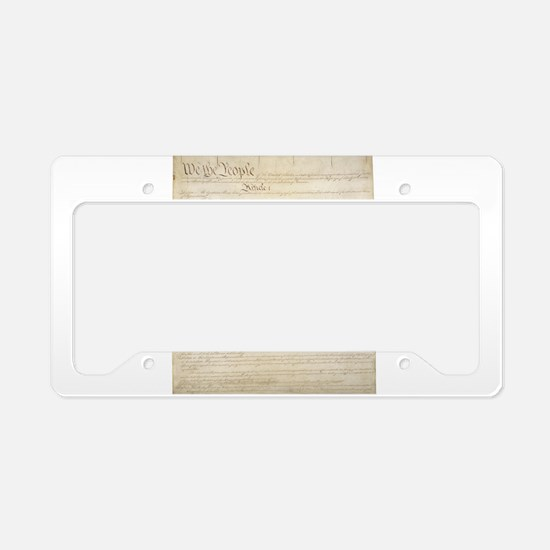 The Us Constitution License Plate Holder