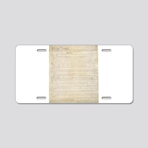 The Us Constitution Aluminum License Plate