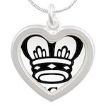 queen Silver Heart Necklace