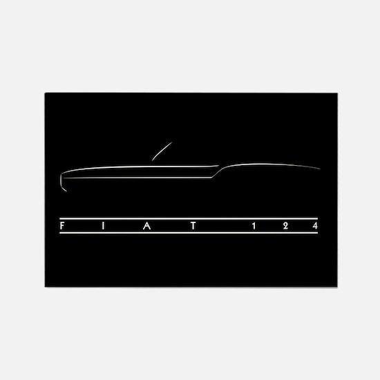 Fiat Spider Kitchen Magnet (black)