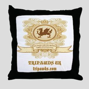 Tripawd Dragon Throw Pillow