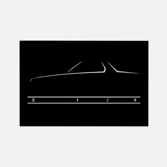X1/9 Kitchen Magnet (black)