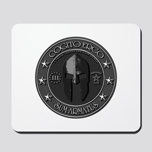 I THINK, THEREFORE I AM ARMED Mousepad