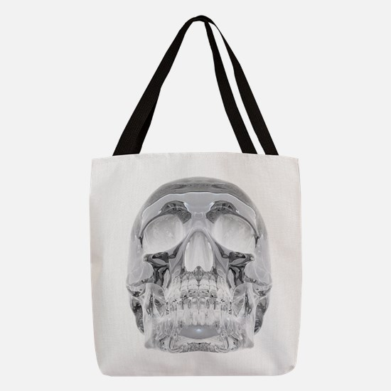 Crystal Skull Polyester Tote Bag