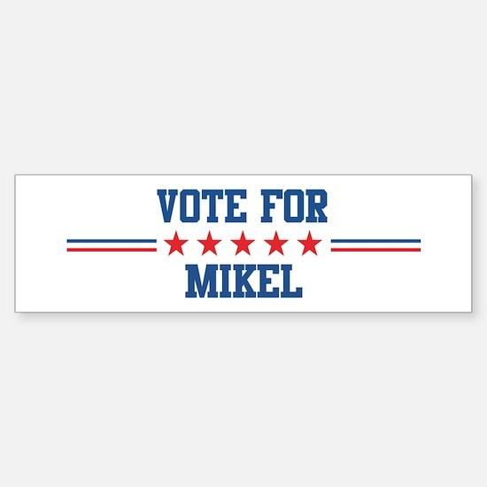 Vote for MIKEL Bumper Car Car Sticker