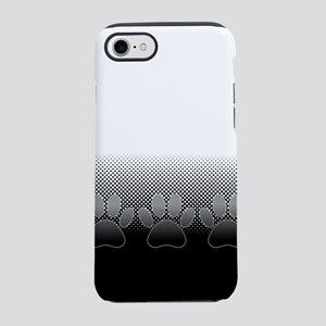 Black And White Paws With News iPhone 7 Tough Case