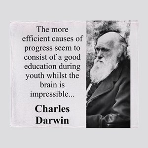 The More Efficient Causes - Charles Darwin Throw B