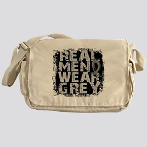 Real Men Brain Tumor Messenger Bag