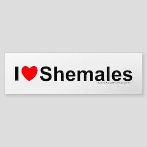 Shemales Clear Bumper Sticker