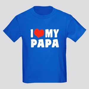 I Love My Papa Kids Dark T-Shirt
