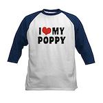 I Love My Poppy Kids Baseball Jersey