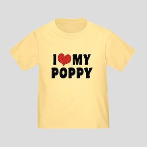 I Love My Poppy Toddler T-Shirt