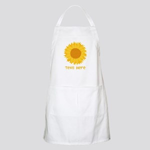 Sunflower. Custom Text. Apron