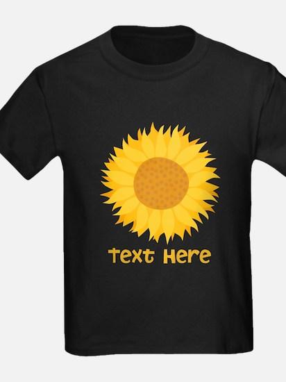 Sunflower. Custom Text. T