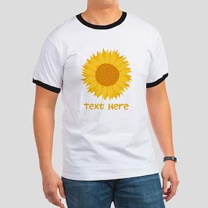 Sunflower. Custom Text. Ringer T