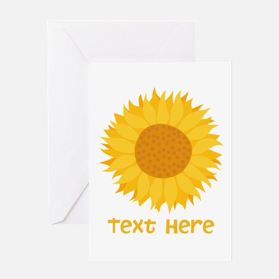 Sunflower. Custom Text. Greeting Card