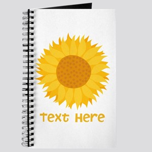 Sunflower. Custom Text. Journal