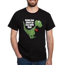 Arms Too Short Dinosaur Dark T-Shirt