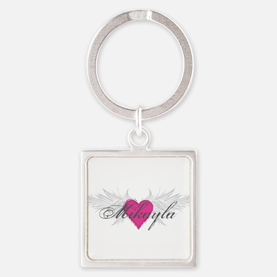 Mikayla-angel-wings.png Square Keychain