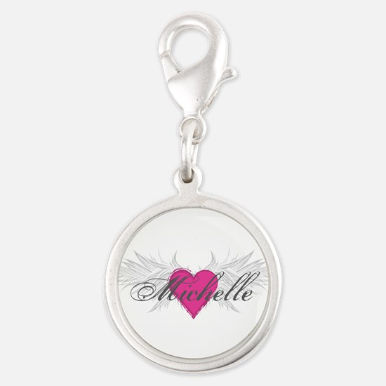 Michelle-angel-wings.png Silver Round Charm