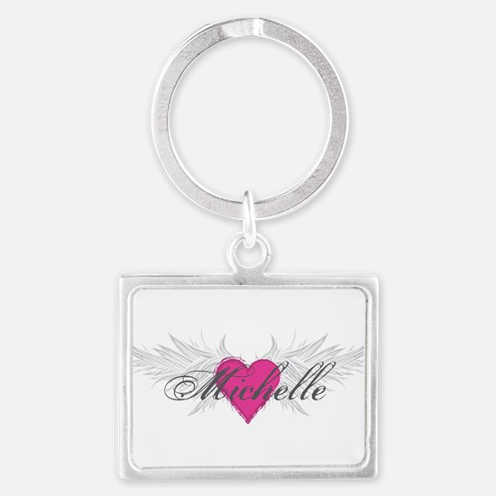 Michelle-angel-wings.png Landscape Keychain