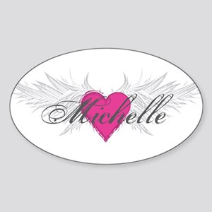 Michelle-angel-wings Sticker (Oval)