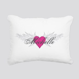 Michelle-angel-wings Rectangular Canvas Pillow