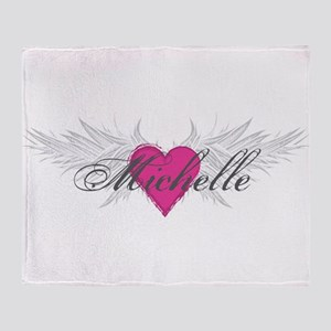 Michelle-angel-wings Throw Blanket