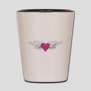 Michelle-angel-wings Shot Glass