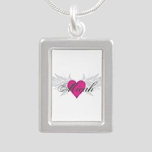 Micah-angel-wings Silver Portrait Necklace