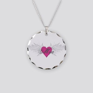 Mia-angel-wings Necklace Circle Charm