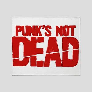 Punk's Not Dead Throw Blanket