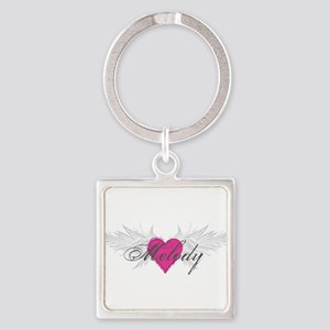 Melody-angel-wings Square Keychain