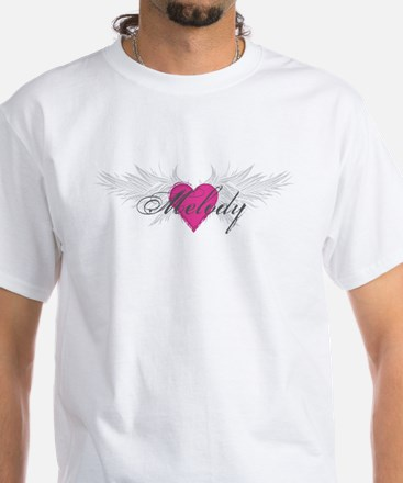 Melody-angel-wings.png White T-Shirt
