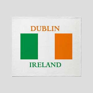 Dublin Ireland Throw Blanket