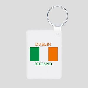 Dublin Ireland Aluminum Photo Keychain