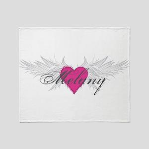 Melany-angel-wings Throw Blanket