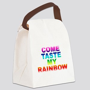 Come Taste My Rainbow Canvas Lunch Bag