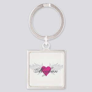 Meghan-angel-wings Square Keychain