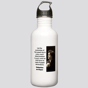 Let The Guarantee Of Free Speech - de Cleyre Water